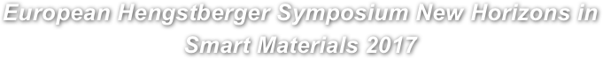 European Hengstberger Symposium New Horizons in Smart Materials 2017